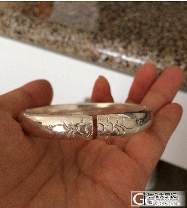 母亲节发几个手头的镯子给大家看看_手镯银