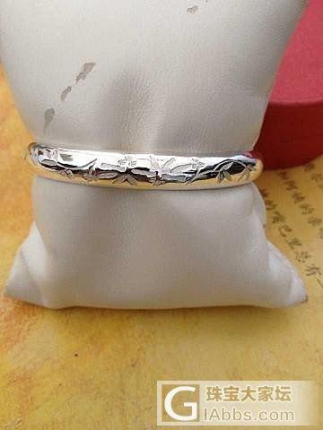 送给妈妈的礼物的洪生家的节节高手镯!_手镯银
