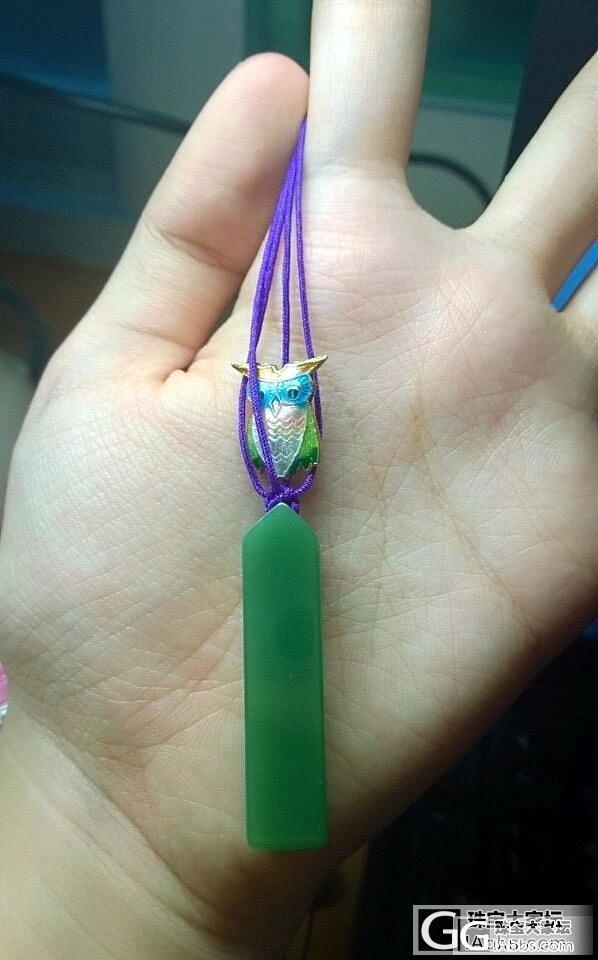 第一次做了一条于我而言复杂点的编绳,..._编绳碧玉