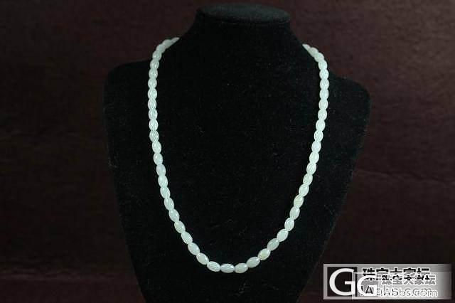 特价新疆和田玉挂链保真支持复检白玉米珠项链_传统玉石