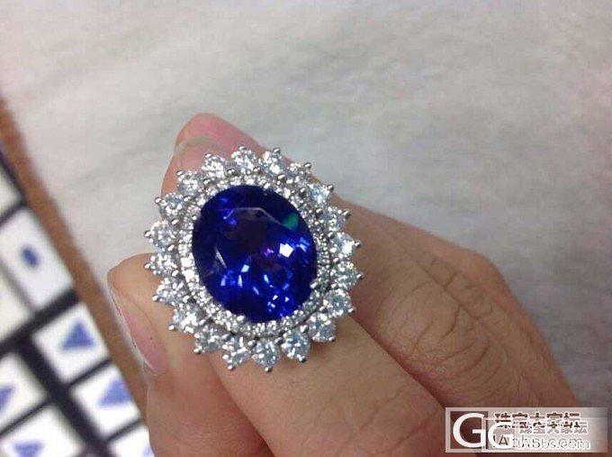 5A坦桑是这个样子的_戒指坦桑石刻面宝石