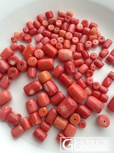 纯天然momo红珊瑚桶珠 对珠 穿手串多宝必备_珠宝