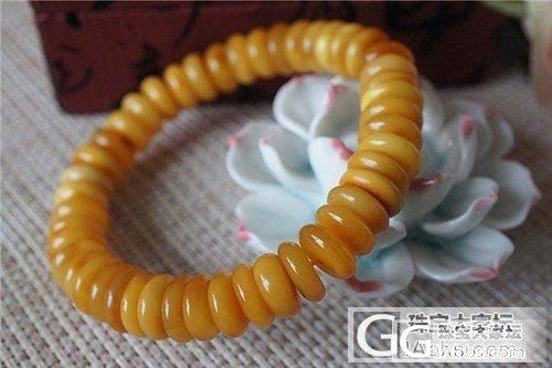 【名称】金麒麟珠宝 琥珀 老蜜蜡 算盘珠手链 手串 6条 组2_珠宝