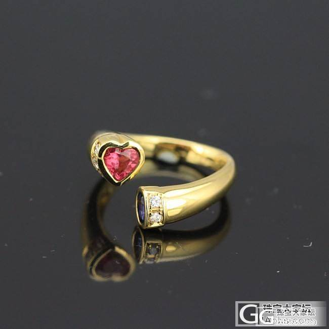 别致的彩蓝宝戒指,小四价位。