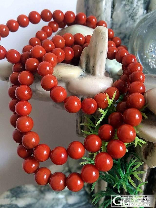 九口南红满肉柿子红8mm108佛珠_宝石