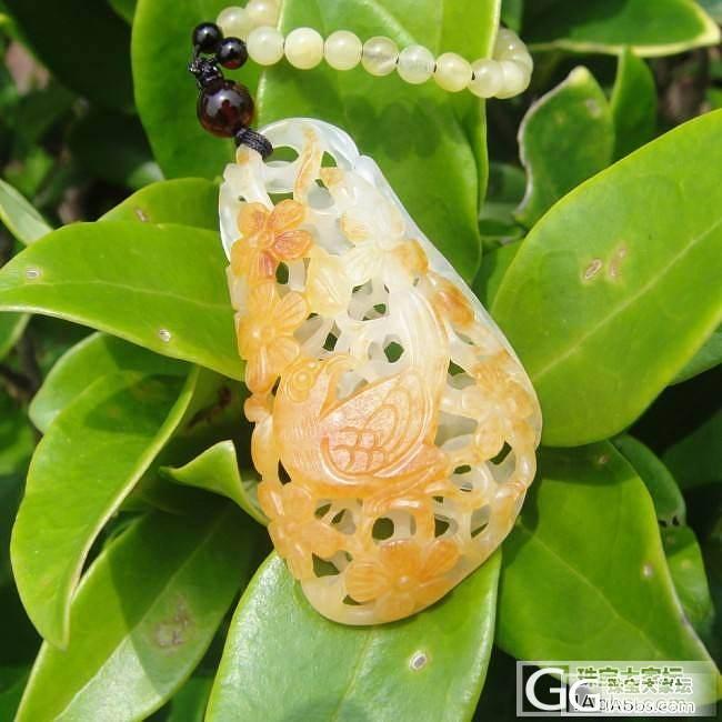 【玉语蜜香】和田玉籽料 吊坠挂件 《喜上眉梢》 黄沁独籽_传统玉石