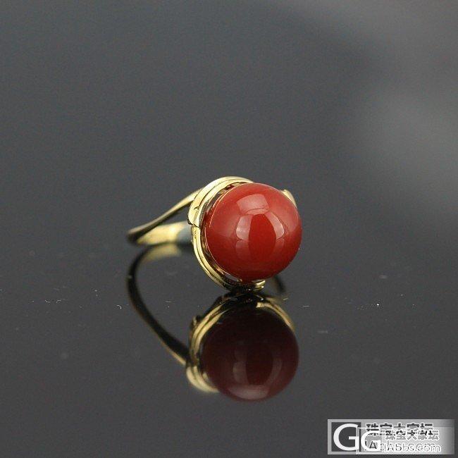 新照片来了,珊瑚戒指,性价比非常高,...