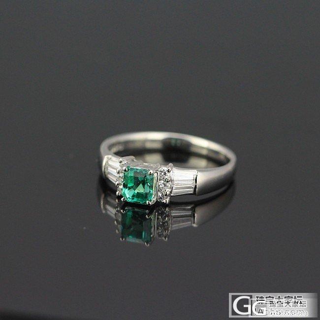 便宜的0.48pt祖母绿戒指,颜色不...