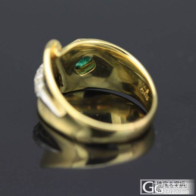 0.62ct祖母绿戒指,造型别致,微...