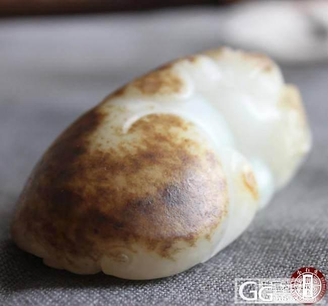新疆和田籽料把件——貔貅_和田的小石头