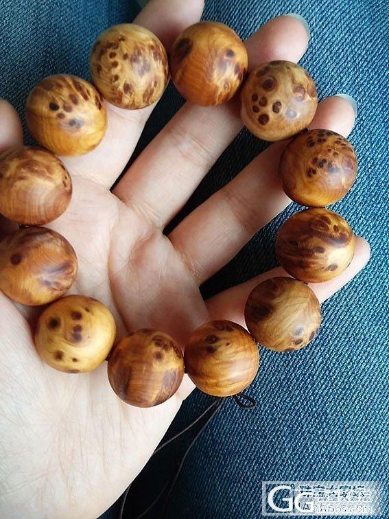 大猫窝一级白洒金籽章和南红小圆龟和满花崖柏2.0手串_传统玉石