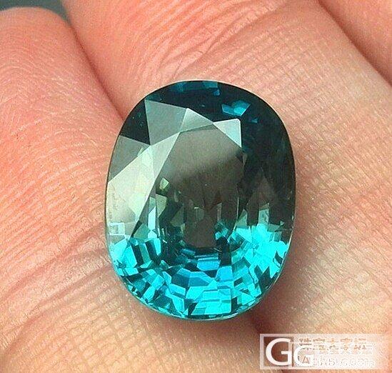 转7.21卡天然蓝色锆石(风信子)一颗_宝石
