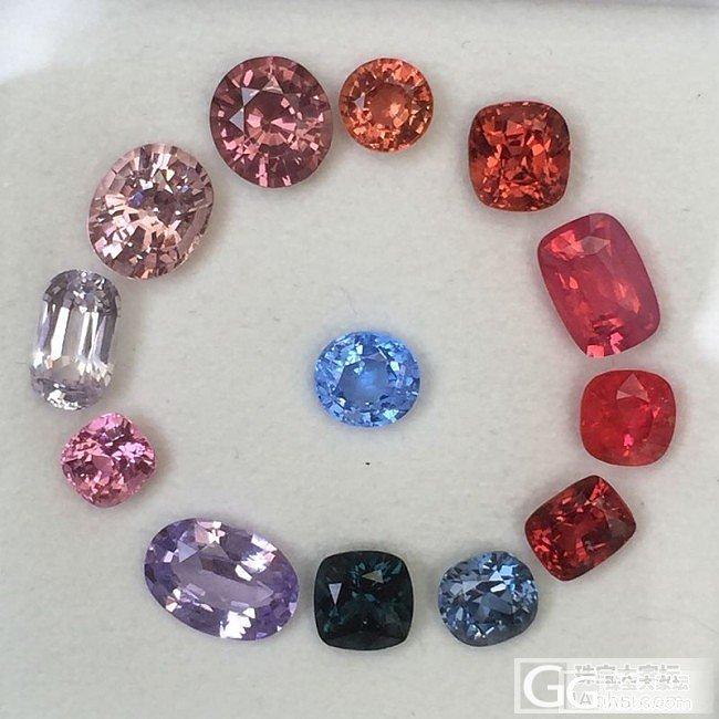 收集了不同颜色的尖晶,大家来瞅瞅_刻面宝石尖晶石