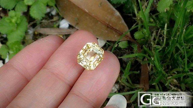 【蓝宝石】8.12克拉无烧黄色蓝宝石,太闪了,简直像黄钻,EGL证书_上海皇家蓝彩宝