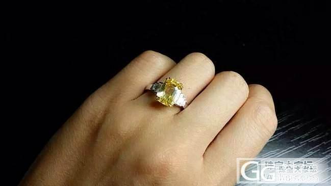 【RBG 定制欣赏】每次发黄色蓝宝石总有人在下面留言这个黄钻戒指多少钱呀_上海皇家蓝彩宝