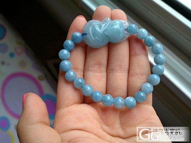 大珠子海蓝宝吊坠和手链_宝石