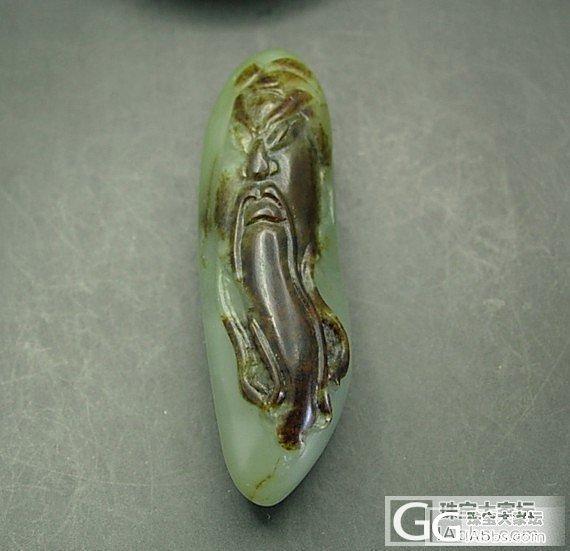 和田玉枣红皮特细沙枣青籽料《关公》高档挂件_传统玉石