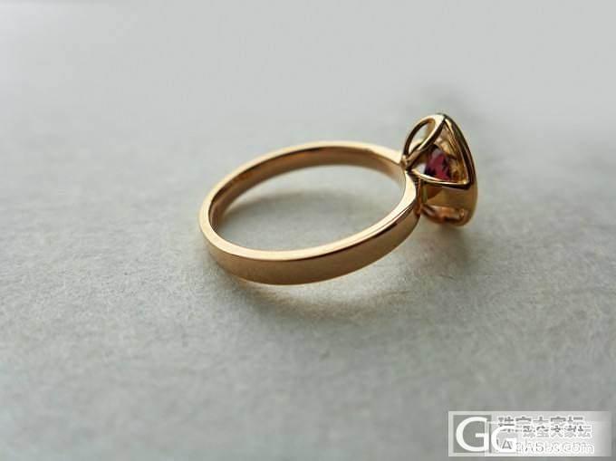 红碧玺戒指 18K金镶嵌_宝石