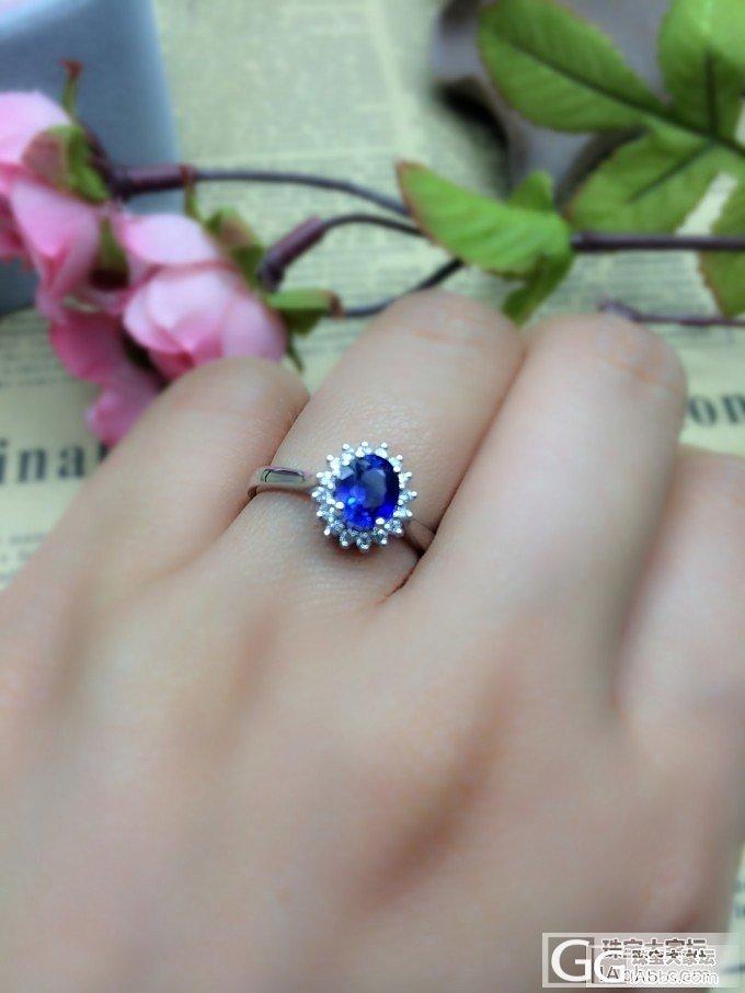 【山水彩宝】经典戴妃款蓝宝石镶钻戒指_宝石
