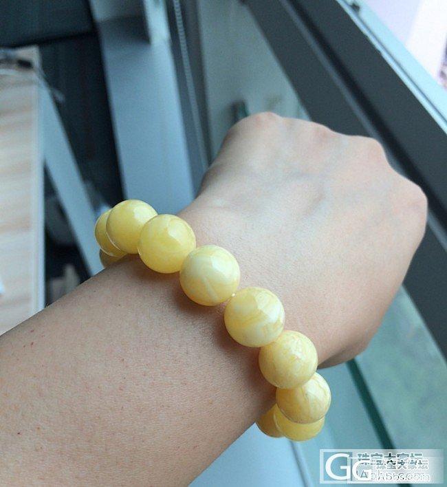 展示一下心爱之物,暴力黄和小白花_串珠青金石蜜蜡
