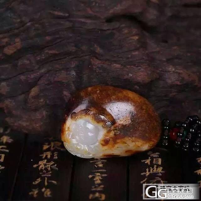 新疆和田沁红籽料 如意童子_传统玉石