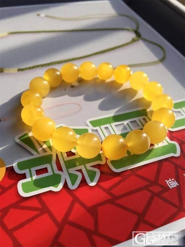 【函函家】满蜜鸡油黄10.8毫米手串_函函家玉石铺