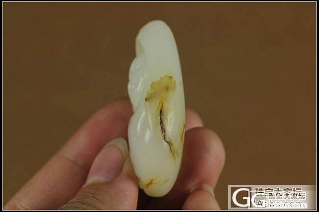 新疆和田玉白玉佛引福来籽料挂件24g  6500元_传统玉石
