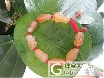 3个手串糖心玛瑙,金黄葫芦玛瑙,花色玛瑙,两块戈壁作料_玛瑙