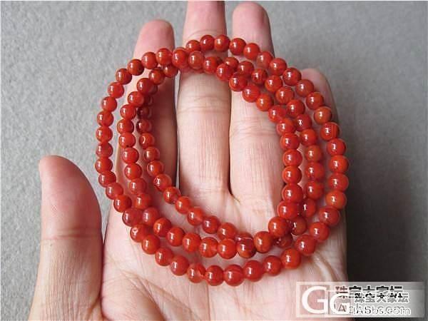 九口料 柿子红  5mm手链 南红玛瑙 450元_传统玉石
