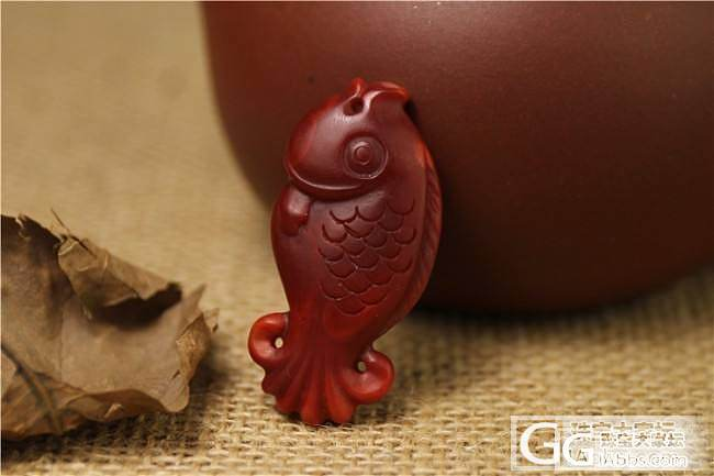 【稀饭香铺】天然南红吊坠 比目鱼雕刻_玛瑙