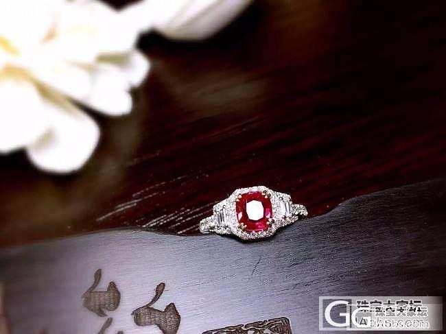 【RBG 定制欣赏】无烧红宝戒指,小巧精致太美啦,实物更有立体感的!_上海皇家蓝彩宝