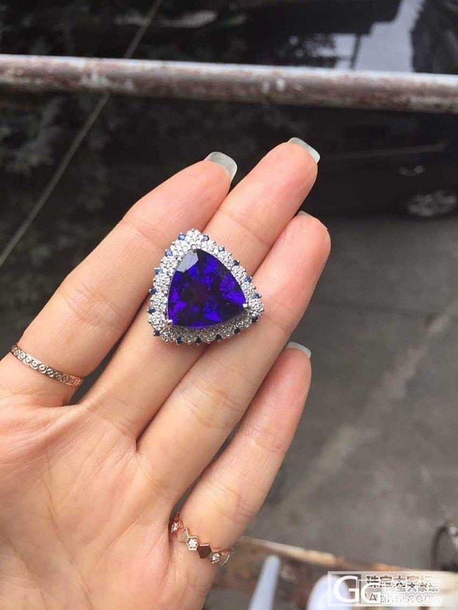 秀一个!给朋友设计做的坦桑戒指今天做好啦!!!哈哈哈哈_坦桑石戒指刻面宝石