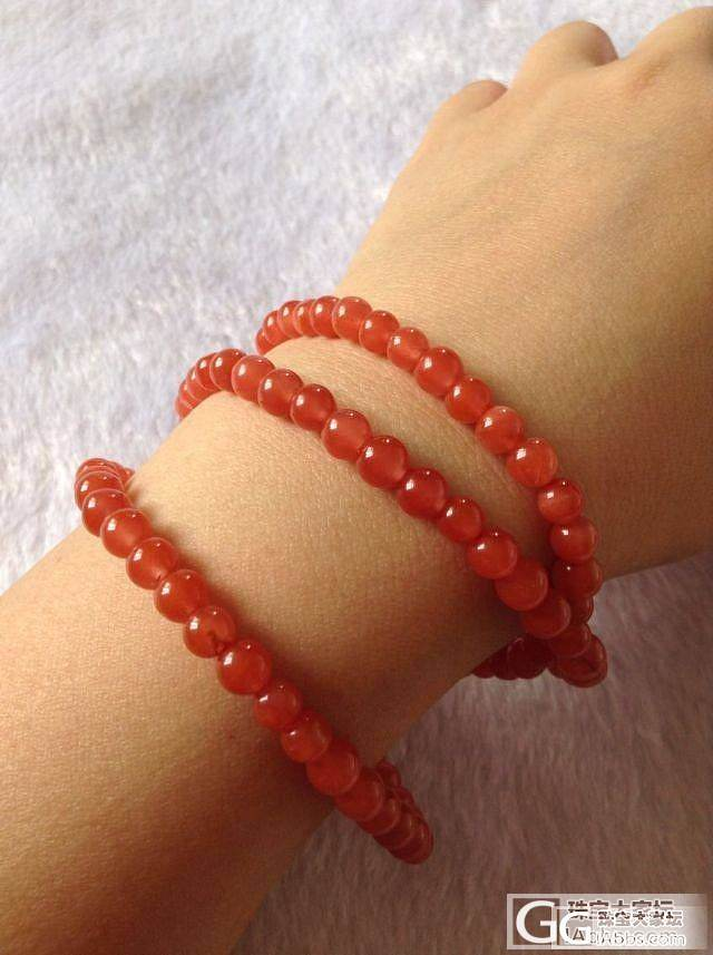 来几条南红樱桃红6MM手链,性价比超高_珠宝