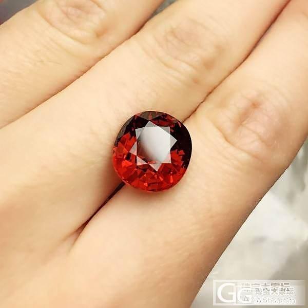 首发贴来颗红红的石榴_石榴石刻面宝石