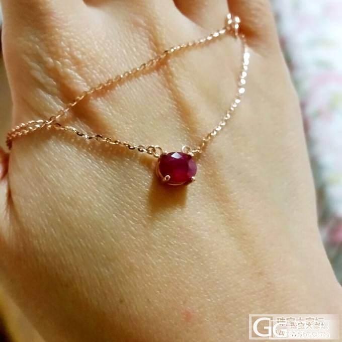 红宝锁骨链,很特别的设计_红宝石