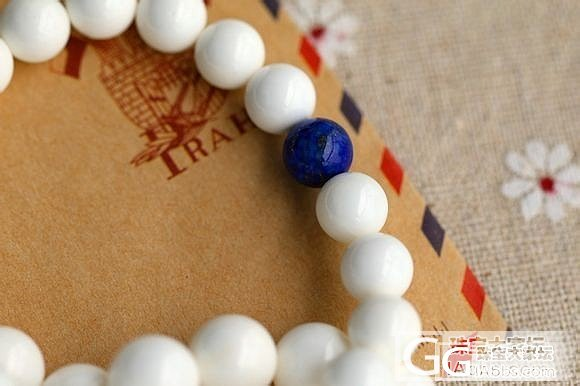 【付邮送】8MM白砗磲手链一条!_有机宝石