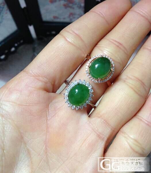 转天然碧玉戒指 925纯银微镶女士戒..._传统玉石