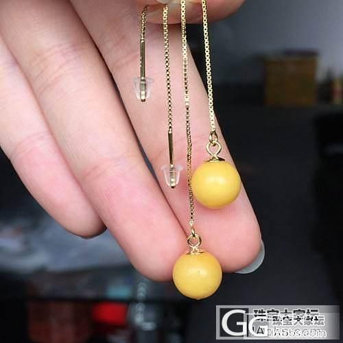 【禅心家-天然蜜蜡】蜜蜡耳坠_美玉禅心珠宝