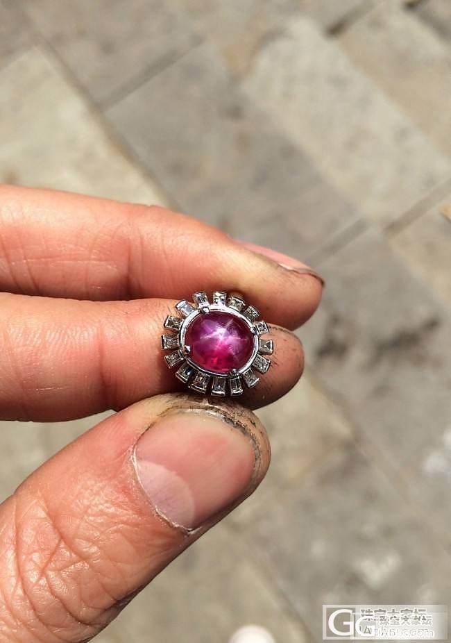 星光红宝戒指_蛋面红宝石