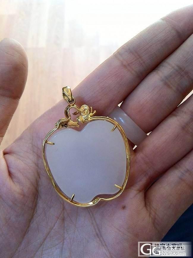 出个18K金镶玉苹果,价低喜欢的来!_传统玉石