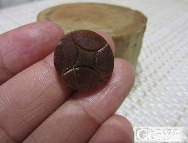 【俊俏玉庄】籽料小精品 350元老气红皮虎面    300元红皮铜钱!_传统玉石