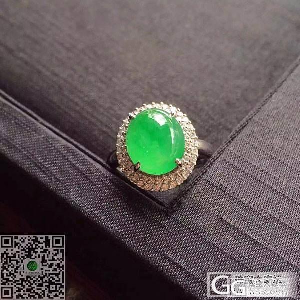 高冰阳绿戒指一枚 颗粒圆润饱满 种水极好 晶体细腻干净,完美无瑕!品质杠杠滴_珠宝
