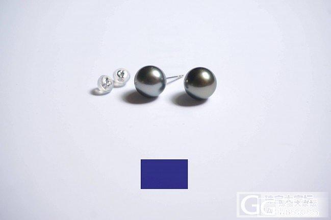大溪地黑珍珠耳针_海水珍珠珍珠