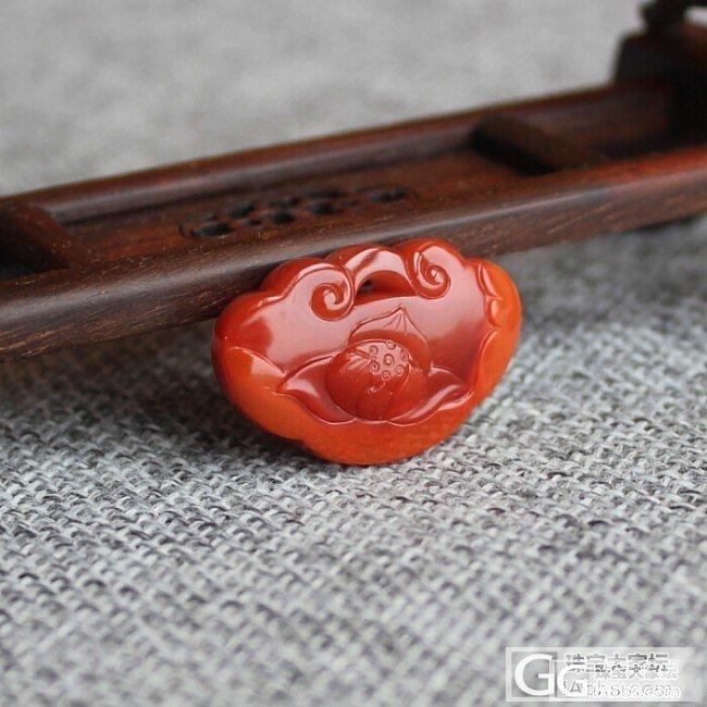 【玥玥的珠宝盒】南红双面雕何花锁,7月7日新货_玥玥的珠宝盒