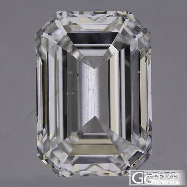 【先恩尼】1.54克拉 D色VS2 祖母绿形 GIA裸钻特惠_钻石