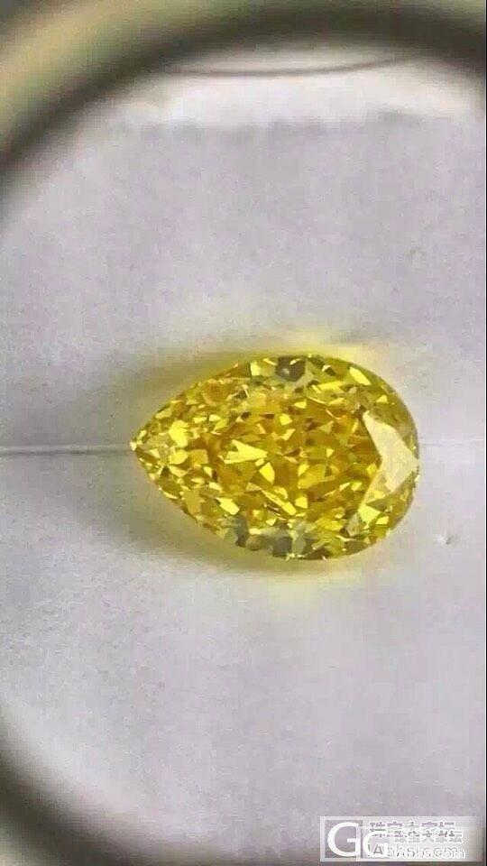 4克拉的浓彩,长得美,颜值高,就是贵!_刻面宝石钻石