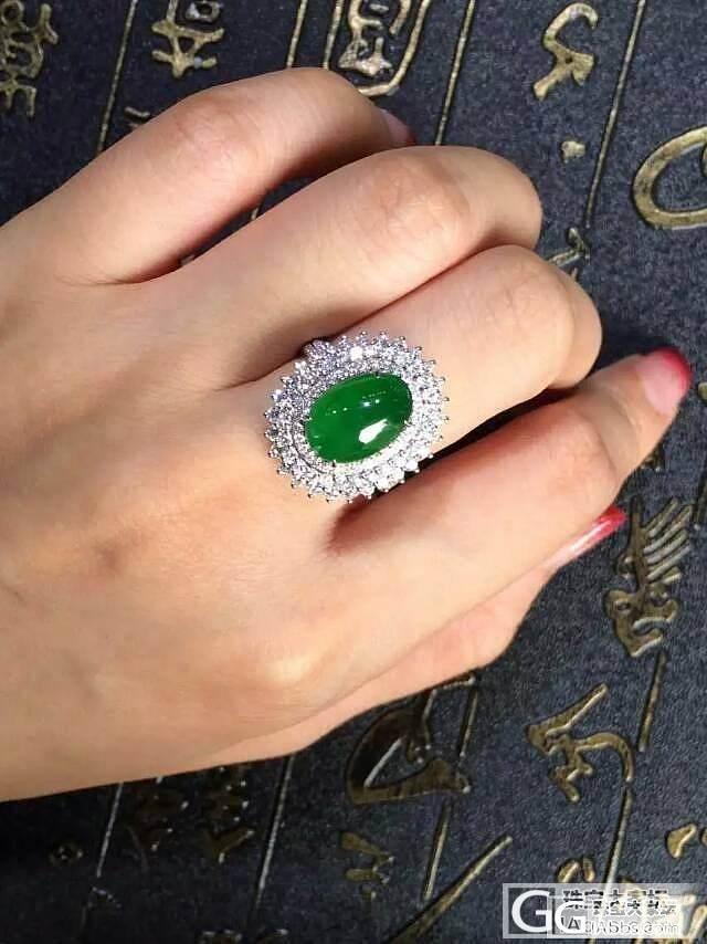 绝美帝王绿戒指,猜个价,补了个无p的图。_戒指蛋面翡翠