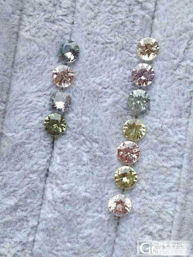 【P.N.GEMS】一批圆钻切割Fancy Color无烧蓝宝_宝石