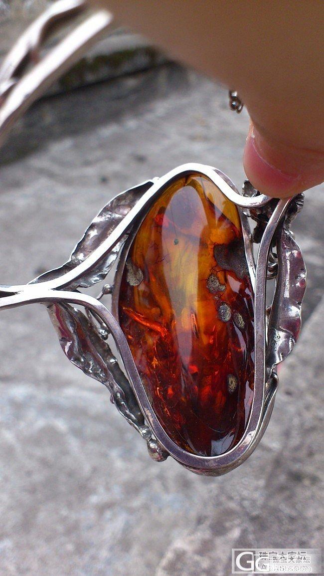 又入一套欧洲老银手工做的琥珀项链+手镯,栩栩如生,葡萄园的故事_琥珀
