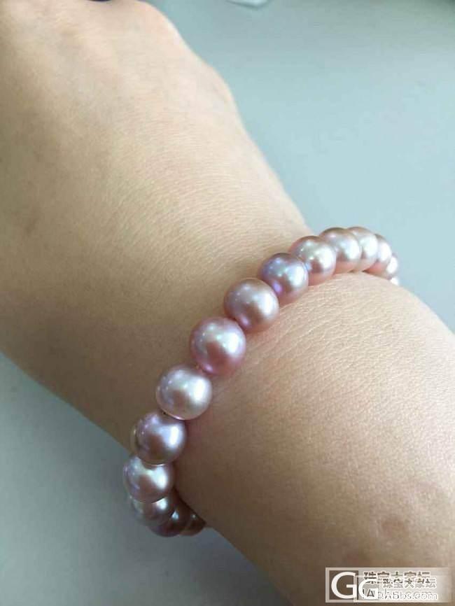 淡水的柔情一样很美腻_珠串珍珠